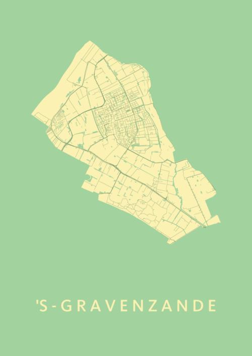 's-Gravenzande Spring Stadskaart Poster | Kunst in Kaart
