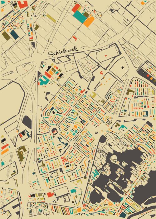 Schiebroek Autumn Mosaic Map