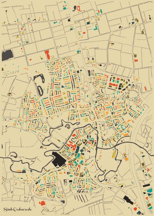 Sint-Oedenrode Autumn Mosaic Map