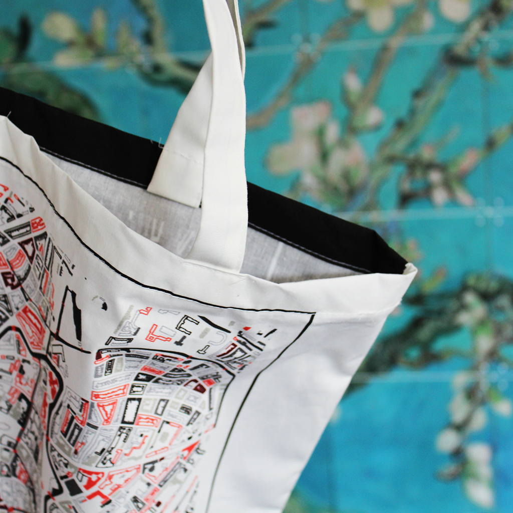 Bedrukte katoenen tassen - Kunst in Kaart