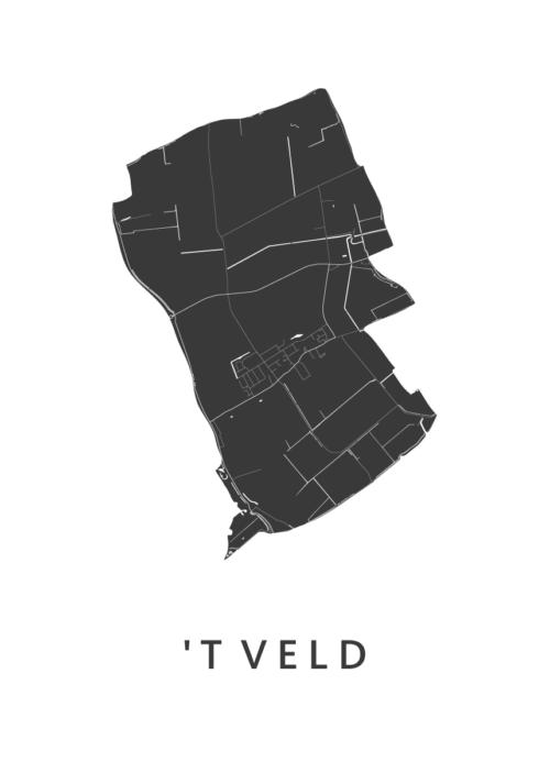 't Veld Stadskaart poster | Kunst in Kaart