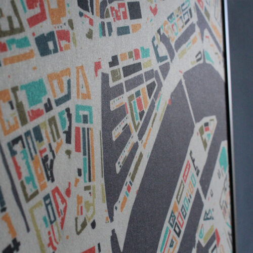 Gerecycled vilt - stadskaart
